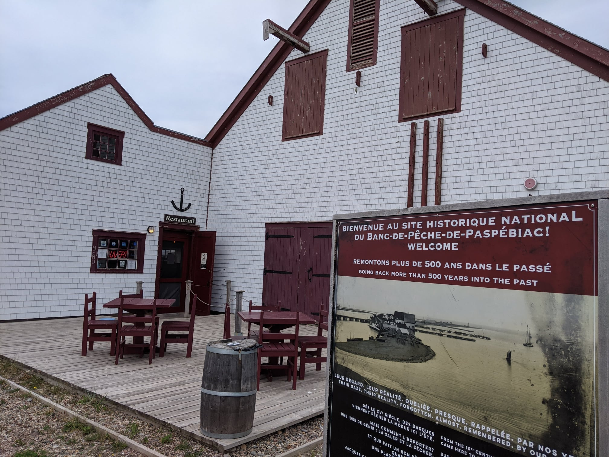 Grande déception au Site historique national de Paspébiac